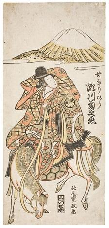 onna narihira weiblicher narihira hosoban by kitabatake shigemasa