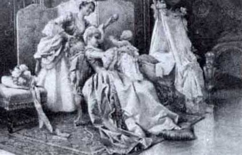 entertaining the baby by v de parades