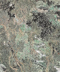 融春 镜心 设色纸本 (painted in 2005 spring) by zhang fuxing