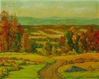 autumn hillside by bissell phelps smith