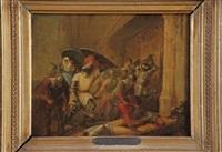 schlachtenszene by gustave (egidius karel g.) wappers