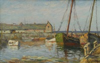 boats at dock, rockport, mass by arthur e. ward