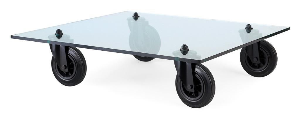 soffbord tavolo con ruote by gae aulenti