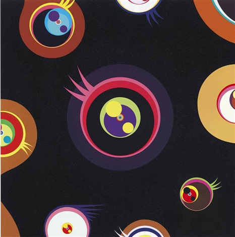 jellyfish eyes (black i) by takashi murakami