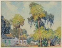 towering palms, savannah square, savannah, georgia by william chadwick