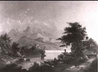 sudlandische seelandschaft by carl von kratzer