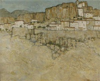 a mountain village in spain (andalucia?) by thomas swimmer