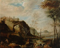 landscape with bridge by j.l. fund