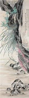 兰花依石 by jin zhang