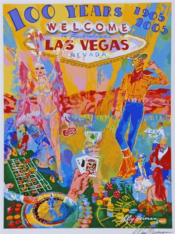celebrating 100 years of neon las vegas by leroy neiman