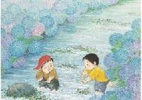 hydrangea river by fudo kaida
