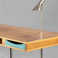 desk with table lamps by harbo solvsteen