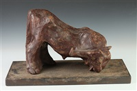bull kneeling by duilio cambellotti
