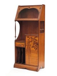 raro mobile vetrina intarsiato by louis majorelle