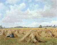 in the cornfields, hazelbury, somerset by arthur j. foster