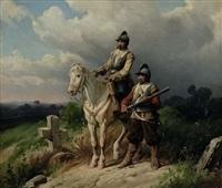 zwei soldaten by christian sell the elder