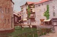 city river scene by stan miller