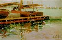 boat dock (marblehead yacht club) by john rettig