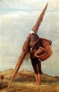 la femme de pêcheur dans les dunes by andré hennebicq