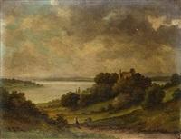 landschaft mit see by karl hofmann