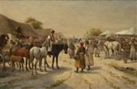 ungarischer pferdemarkt by a. baumgartner