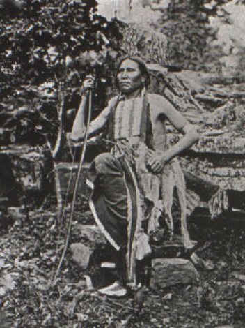little bear a cheyenne warrior at the grand council of mulgee by john k hillers
