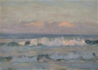 untitled (ocean scene) by john william (sir) ashton