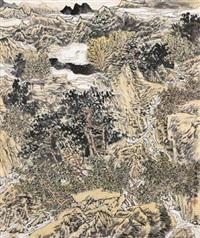 秋韵 镜心 设色纸本 (painted in 2005 autumn) by zhang fuxing