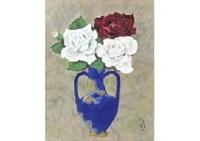flowers in vase by tadashi moriya