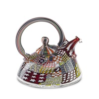 crazy quilt teapot by richard marquis