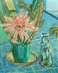 still life with flowers and vase by christine swane