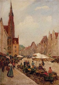 markt in landshut by richard lipps