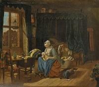 wochenbettstube by abraham van stry the elder