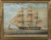 schip walgheren, kapitein, j. bart by jan mooy