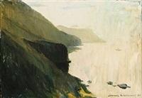 seascape from skálefjorden, the faroe islands by joannis kristiansen