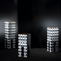 set of three pedestals (from the ollo collection) by alchimia