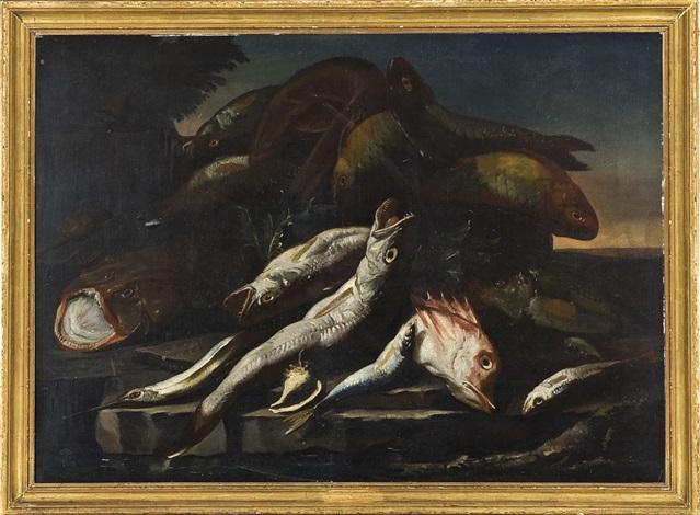 natura morta con pesci by elena recco