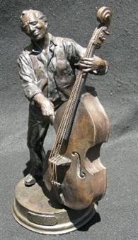 double bass player by barry jackson