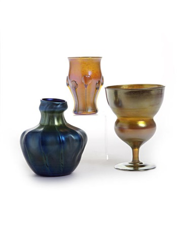 vases 3 works by louis comfort tiffany