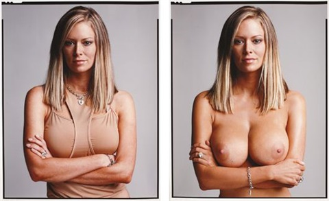 jenna jameson clothednude diptych by timothy greenfield sanders