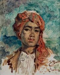 portrait d'egyptien by emile baes