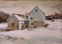 winter barn by marshall w. joyce