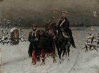 soldaten im winter by christian sell the elder