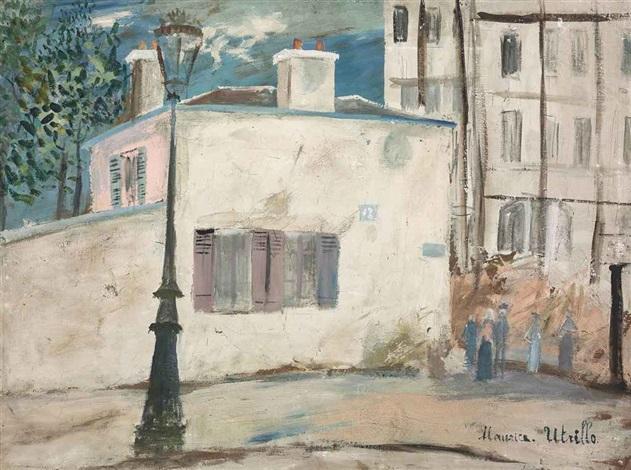 la maison de berlioz rue du mont cenis à montmartre by maurice utrillo
