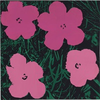 study for warhol flowers (pink) by sturtevant