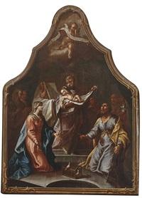 prozessionstafel - darbringung jesu im tempel by gottfried bernhard goetz