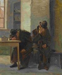 zwei rastende rabbiner by alwin arnegger