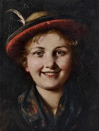 dirndlportrait by emma (edle von seehof) müller