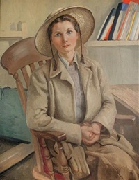 paulina in the straw hat by cecil leslie