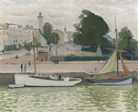 le yacht blanc, la rochelle by albert marquet